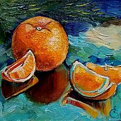 Новогодние апельсины масло