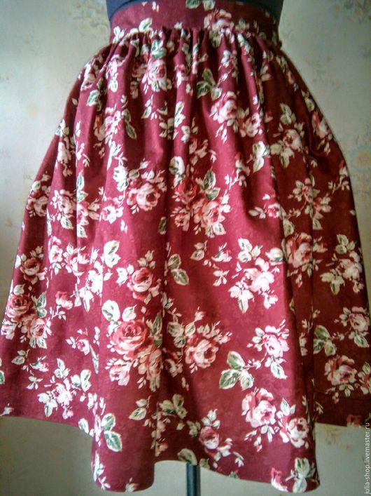 """Юбки ручной работы. Ярмарка Мастеров - ручная работа. Купить Летняя пышная юбка """"Винтажные розы"""". Handmade. Юбка"""
