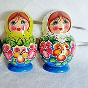 Русский стиль handmade. Livemaster - original item fridge magnet Violet. hand painted. Handmade.