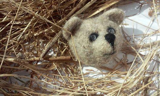Броши ручной работы. Ярмарка Мастеров - ручная работа. Купить Медвежонок брошка из шерсти. Handmade. Шерсть, пермь, ребенок, Берлога