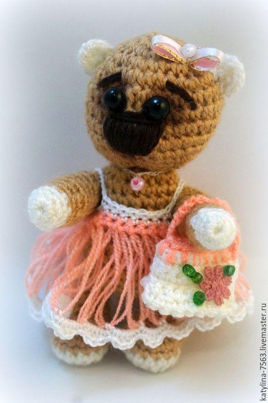 Игрушки животные, ручной работы. Ярмарка Мастеров - ручная работа. Купить Модная Медведица. Handmade. Комбинированный, модница, модный подарок