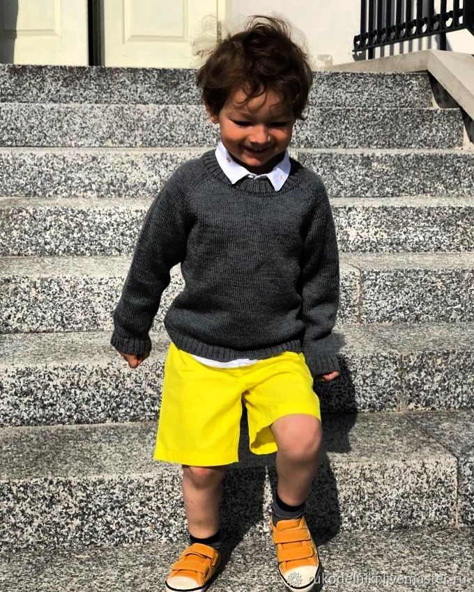 Unisex Clothing handmade. Livemaster - handmade. Buy Pullover.For children, 50% wool 50% acrylic
