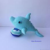 Мягкие игрушки ручной работы. Ярмарка Мастеров - ручная работа Дельфин. Handmade.