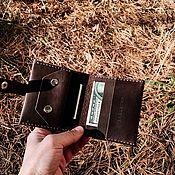 Кошельки ручной работы. Ярмарка Мастеров - ручная работа Мужской складной кошелек + гравировка. Handmade.