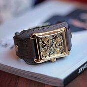 handmade. Livemaster - original item Stylish Quadro gold wrist watch. Handmade.