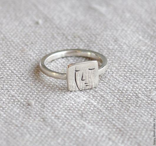 """Кольца ручной работы. Ярмарка Мастеров - ручная работа. Купить Кольцо """"Лицо"""". Handmade. Серебряный, кольцо, портрет, подарок женщине"""