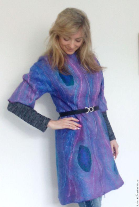 Верхняя одежда ручной работы. Ярмарка Мастеров - ручная работа. Купить Пальто валяное летнее. Handmade. Пальто женское
