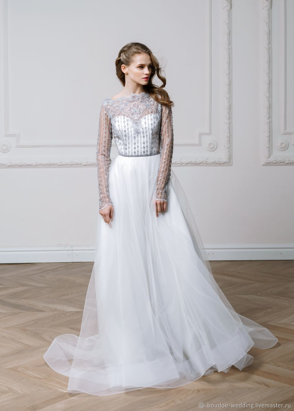 Embroidered Wedding Dress Peony Shop Online On Livemaster With