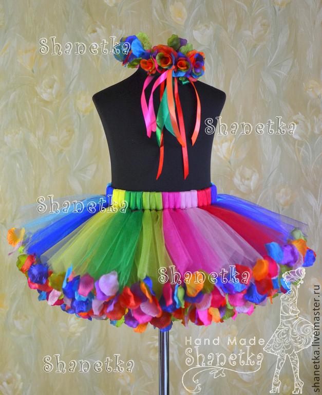 Юбка из разноцветного фатина