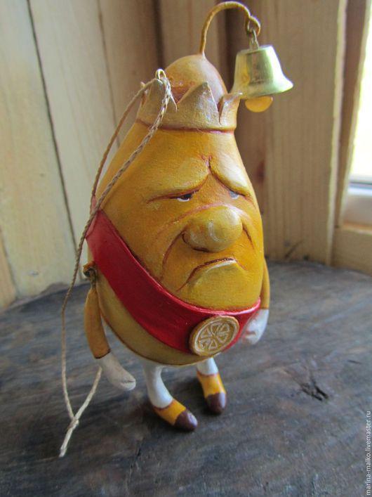 Сказочные персонажи ручной работы. Ярмарка Мастеров - ручная работа. Купить Ёлочная игрушка.принц Лимон.. Handmade. Лимонный