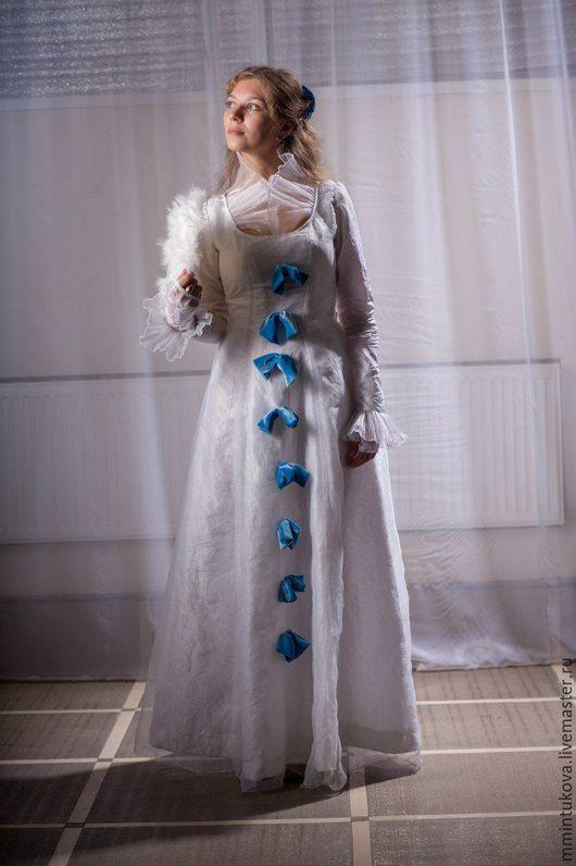 Карнавальные костюмы ручной работы. Ярмарка Мастеров - ручная работа. Купить Платье конца 19 века, на турнюре. Handmade.