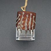 Украшения handmade. Livemaster - original item Silver ring with ebony German Kabirski. Handmade.