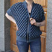 Одежда ручной работы. Ярмарка Мастеров - ручная работа Стильный жилет на молнии. Handmade.