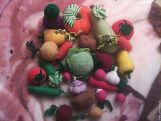 Еда ручной работы. Ярмарка Мастеров - ручная работа. Купить Набор вязанных овощей. Handmade. Комбинированный, еда крючком
