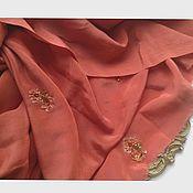 Ткани ручной работы. Ярмарка Мастеров - ручная работа 435 Антикварная вышитая ткань. Handmade.