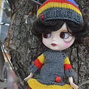 Куклы и игрушки handmade. Livemaster - original item Set of clothes for Blythe doll (Blythe). Dress, hat, leg warmers. Handmade.