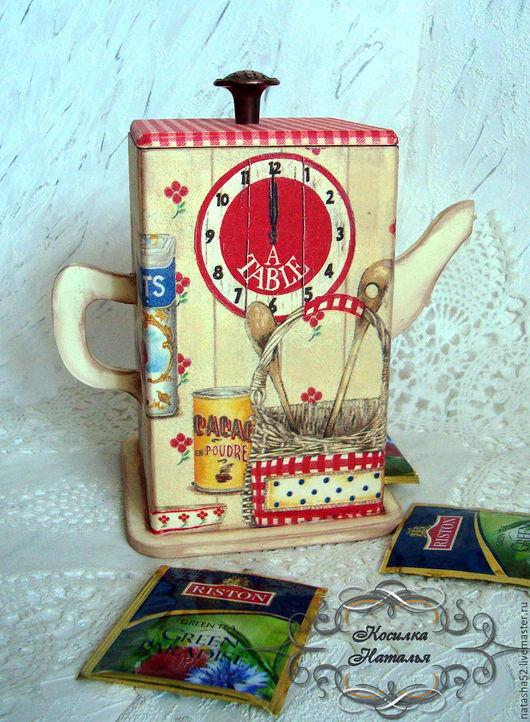 Кухня ручной работы. Ярмарка Мастеров - ручная работа. Купить Короб для чайных пакетиков. Handmade. Чайный домик, кухонные принадлежности