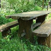 Для дома и интерьера ручной работы. Ярмарка Мастеров - ручная работа стол и скамейки. Handmade.