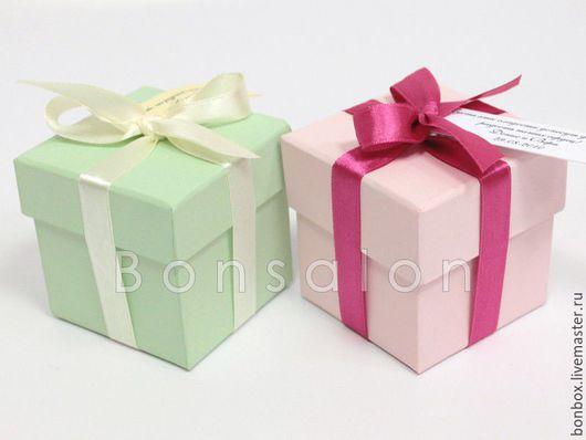 Свадебные аксессуары ручной работы. Ярмарка Мастеров - ручная работа. Купить Коробка из переплётного картона 6х6х6 см.. Handmade. Коробка