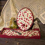 """Для дома и интерьера ручной работы. Ярмарка Мастеров - ручная работа Комплект для кухни """"Вишенки"""". Handmade."""