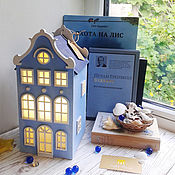 Для дома и интерьера handmade. Livemaster - original item Sky.  The blue lamp-house. Night light. Handmade.