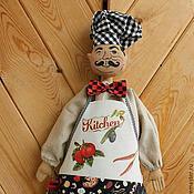 """Для дома и интерьера ручной работы. Ярмарка Мастеров - ручная работа Пакетница  """"Сеньор Патрицио, итальянский кулинар"""". Handmade."""
