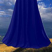 """Одежда ручной работы. Ярмарка Мастеров - ручная работа Юбка миди шифоновая """"Синяя долина"""". Handmade."""