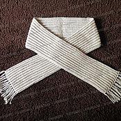 Аксессуары handmade. Livemaster - original item Knitted scarf white. Handmade.
