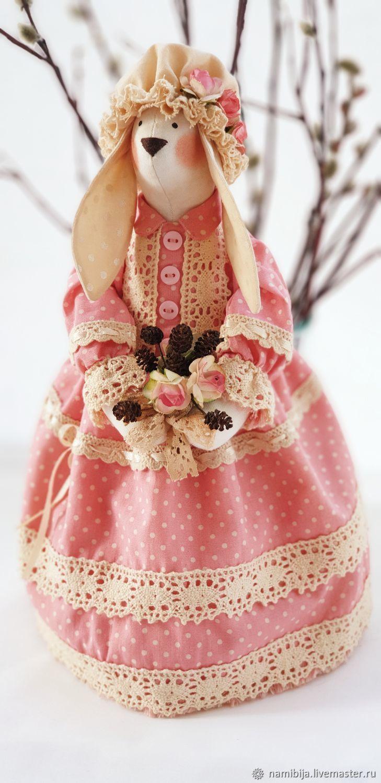 Зайка в розовом, Куклы Тильда, Санкт-Петербург,  Фото №1