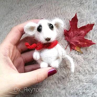 Куклы и игрушки ручной работы. Ярмарка Мастеров - ручная работа Белая Мышка. Вязаная крючком игрушка. Handmade.
