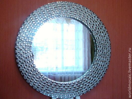 Зеркала ручной работы. Ярмарка Мастеров - ручная работа. Купить Зеркало в мозаичной раме, серебряное. Handmade. Серебряный, зеркало