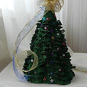 Для дома и интерьера ручной работы. Ярмарка Мастеров - ручная работа Вязанная Новогодняя елка. Handmade.