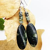 Украшения handmade. Livemaster - original item Jade Green leaf earrings. Handmade.