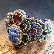 Украшения handmade. Livemaster - original item Egyptian scarab bracelet blue. Handmade.