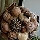 """Топиарии ручной работы. Ярмарка Мастеров - ручная работа. Купить Топиарий """"Ореховый вкус"""". Handmade. Коричневый, уютный дом, бадьян"""