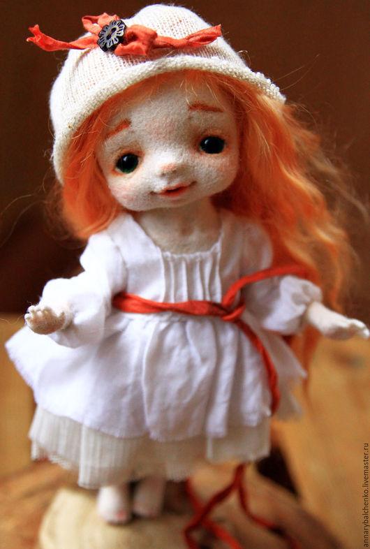 Коллекционные куклы ручной работы. Ярмарка Мастеров - ручная работа. Купить Гномочка Стасенька. Handmade. Белый, авторская кукла, шёлк