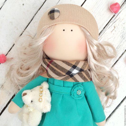 Коллекционные куклы ручной работы. Ярмарка Мастеров - ручная работа. Купить Интерьерная кукла. Handmade. Зеленый, кукла в подарок