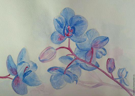 Картины цветов ручной работы. Ярмарка Мастеров - ручная работа. Купить Орхидея. Handmade. Орхидея, картина