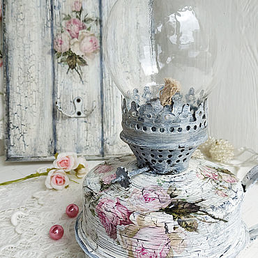 Для дома и интерьера ручной работы. Ярмарка Мастеров - ручная работа Лампа керосиновая Прованс роз. Handmade.
