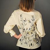 Одежда handmade. Livemaster - original item Embroidered cotton blouse