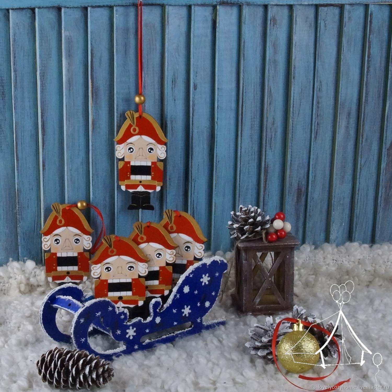 Новогодняя игрушка Щелкунчик.Щелкунчик елочная игрушка, Елочные игрушки, Москва,  Фото №1