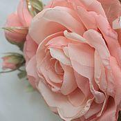 Украшения handmade. Livemaster - original item FABRIC FLOWERS. Brooch-flower. Sprig