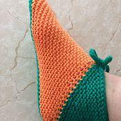 Носки ручной работы. Ярмарка Мастеров - ручная работа Носки: тапочки яркие. Handmade.