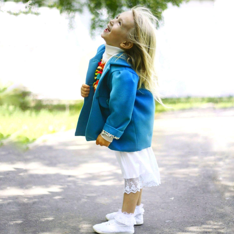Пальто голубое, Верхняя одежда детская, Москва,  Фото №1