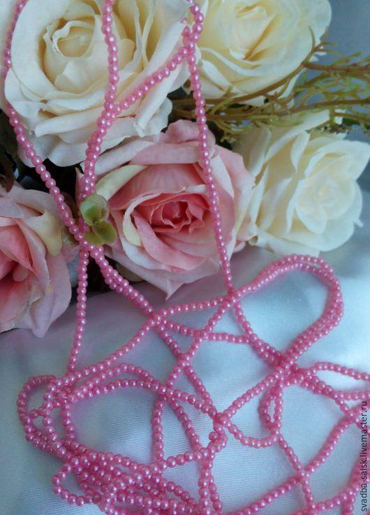 Для украшений ручной работы. Ярмарка Мастеров - ручная работа. Купить Бусины (3 мм) (розовый). Handmade. Розовый