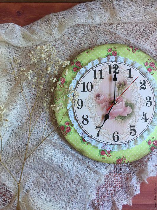 """Часы для дома ручной работы. Ярмарка Мастеров - ручная работа. Купить Часы""""Шебби"""". Handmade. Комбинированный, интерьер, часы настенные, шебби"""