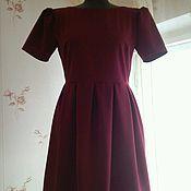 Одежда ручной работы. Ярмарка Мастеров - ручная работа Бордовое платье с открытой спиной. Handmade.