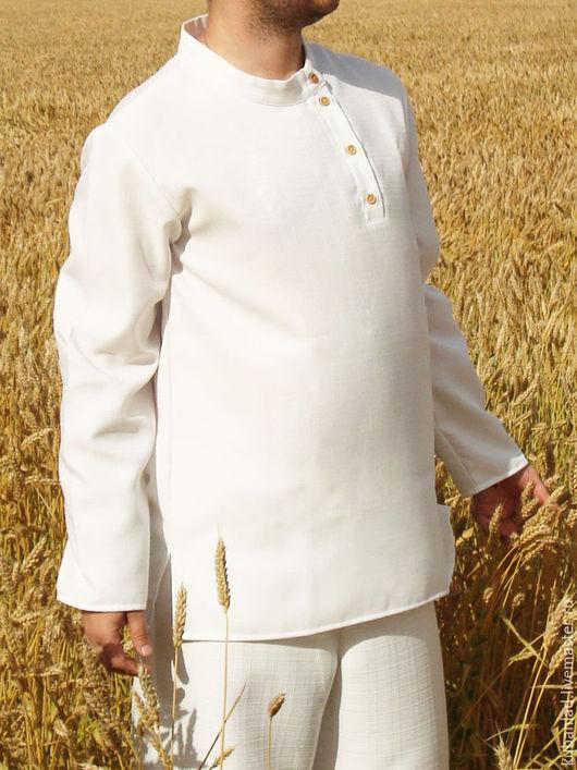 Одежда ручной работы. Ярмарка Мастеров - ручная работа. Купить Косоворотка мужская льняная. Handmade. Косоворотка, косоворотка для мужчин