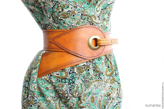 Пояса, ремни ручной работы. Ярмарка Мастеров - ручная работа. Купить Пояс к платью натуральная кожа. Handmade. Рыжий, пояс