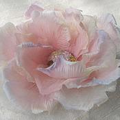 Украшения handmade. Livemaster - original item Silk flowers. Decoration brooch barrette RAINBOW CLOUD. Handmade.